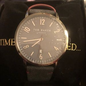 Ted Baker man's gunmetal watch